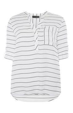 Primark - Zwartgestreepte blouse met borstzakje