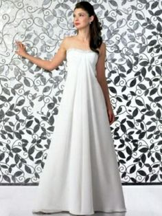 Empire Sweetheart Chiffon Floor-length Draped Wedding Dresses