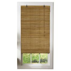 Radiance Venezia Flatstick Indoor/Outdoor Woven Wood Bamboo Roll Up Window Shade - Sun Shades at Hayneedle Woven Blinds, Bamboo Blinds, Woven Wood Shades, Bamboo Shades, Sun Shades, Matchstick Blinds, Best Blinds, Custom Blinds, Outdoor Curtains