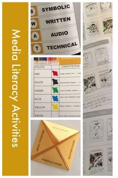 This interactive booklet is designed to give students the building blocks to understand basic media literacy terms. These include all of the media codes – symbolic, written, audio and technical in a comprehensive teaching resource. The media literacy work Visual Literacy, Media Literacy, Literacy Skills, Literacy Worksheets, Teacher Resources, Teaching Ideas, Media Studies, Coding