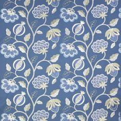 jane churchill paradise garden blue - Google Search