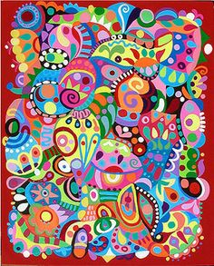 nice abstract - giddily cheerful - something everyone in seattle should have on their walls