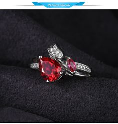 JewelryPalace Flower Rose 2.6ct Created Pink Ruby Love Promise Ring 925 Sterling Silver Scorching New Fashionable Classic Attractive Ladies Ring - Silver Jewellery 925 - SHOP NOW