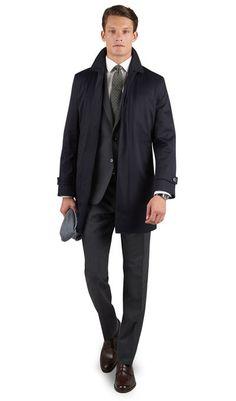 Pinter Navy Cotton Rain Mac, , portrait Tm Lewin, Rain Mac, Cool Style, Underwear, Suit Jacket, Trousers, Menswear, Mens Fashion, Blazer