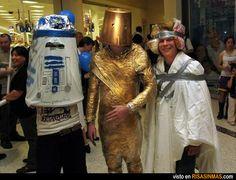 Probablemente los peores disfraces de Star Wars de toda la historia.