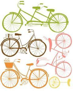 Prints & Bikes  Vintage bikes.
