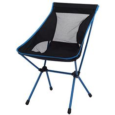 Ancheer Lightweight Portable Heavy Duty Full Back Folding Ground Chair with Carrying Bag for Outdoor Fishing Camping Picnic BBQ Light Blue >>> Find out more about the great product at the image link.