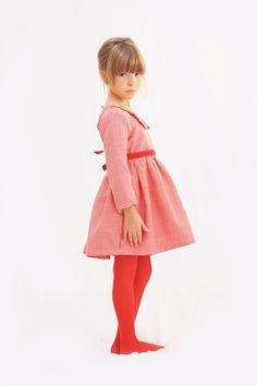 Rasberries Girl Dress Red Girl Dress by Demetriougirls on Etsy, $180.00