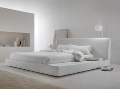 Gepolstertes Doppelbett LONG ISLAND by MY home collection Design Carlo Trevisani