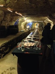 Wine Tasting in the caves at Luna Rossa Wine bar in Stillwater, MN.