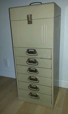 Vintage Acorn metal file cabinet midcentury industrial