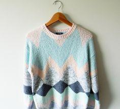 Pastel Perfection Geo Sweater. $38.00, via Etsy.