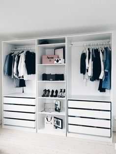 Outstanding Closet Design Ideas For Your Home - Unique closet design ideas will definitely help you utilize your closet space appropriately. An ideal closet design is probably the only avenue toward. Closet Space, Walk In Closet, White Closet, Kid Closet, Closet Designs, Minimalist Interior, Minimalist Closet, Minimalist Kitchen, Minimalist Living