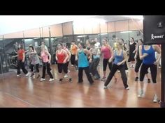 """One of my favorite songs/dances from my Zumba classes with Contessa, """"Booty Shake""""...imagine this with a lot more attitude!"""