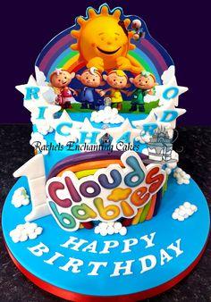 Cloud Babies Birthday Cake by Rachels Enchanting Cakes www.rachelsenchantingcakes.com