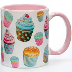 Cupcakes Vintage Ceramic Mug | Cafe Coffee Mugs | RetroPlanet.com