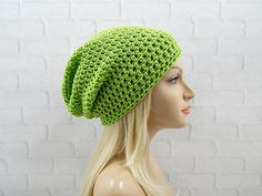 Boho Baggy Crochet Knit Beanie Cap Hat