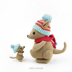 Kangaroos amigurumi crochet pattern Bea and Miki mom and