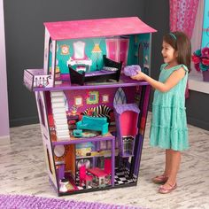 This Monster Manor by KidKraft is perfect! Pop Up, Moving Dolls, Barbie Miniatures, Dollhouse Kits, Doll Furniture, Fun Projects, Big Kids, Toy Chest, Kids Toys