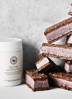 Brownie & Glow Mini Ice Cream Sandwiches // Inner Beauty Recipe// The Beauty Chef