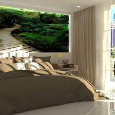 Spálňa s veľkým francúzskym oknom a prístupom na terasu