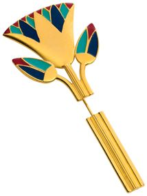 Egyptian Lotus Blossom Pin from The Met Store...