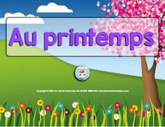 French spring easy reader: a girl talks about the spring activities her friends enjoy. The illustrations support students' understanding of the text. Easy Reader, Core French, Teaching Tools, Teaching Ideas, French Immersion, Spring Activities, Teaching French, School Resources, Kindergarten