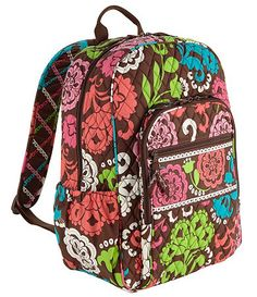 My Vera Bradley Backpack in a different pattern. 2 and a half years and still strong and durable #mysuitesetupsweepstakes