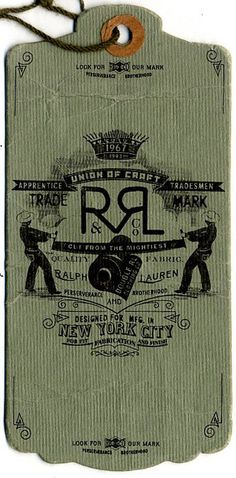RRL Ralph Lauren Swing Tag
