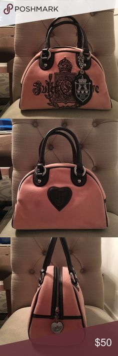 Juicy Couture original bowling bag Lightly worn juicy couture bowling bag. Handles have no sign of wear. Baby pink color Juicy Couture Bags Satchels