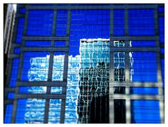 Chicago (photo by Christopher Cohenour) #reflection #blue