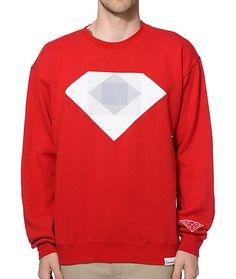 Diamond Supply Co Emerald Rotoscope Crew Neck Sweatshirt