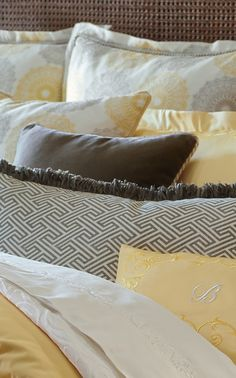 Update your bed quickly and easily by changing the accent pieces with our Royalton Bedding Collection