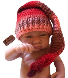 Bonnet lutin elfe bébé - Bonnet imp elf baby   Mode Bébé par filbois  Crochet Bébé f0469e66701
