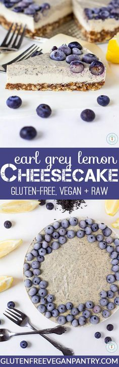 Earl Grey Lemon Cheesecake - Vegan, Gluten-Free + Raw! Only 10 ingredients needed to make this beauty! | http://glutenfreeveganpantry.com