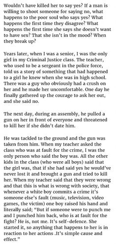 boy pulls out gun cuz girl said no. victim blamin at its finest! check out the prev n nxt pins fr full story!