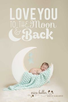 Moon | www.ericahallerphotography.com | Hamilton, NJ Newborn Photographer #newbornphotography #boy #loveyoutothemoonandback #moon #prop #blue #blanket