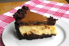 Caramel Fudge Brownie Cheesecake with recipe!  I am seriously going to make this soon.