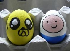 Finn y Jake Ideas para pintar huevos de pascua