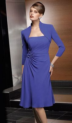 VM Collection Mother of the Bride Short Dress 70641 with Jacket at frenchnovelty.com