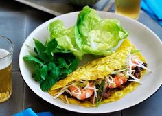 Australian Gourmet Traveller Vietnamese snack recipe for banh xeo.