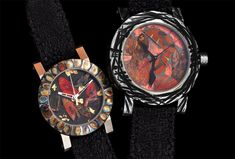 The ArtyA Farfalla Collection...Unlike some #watches who celebrated nature through design accents or reproduction, ArtyA and the artist, D. Arpa-Cirpka actually incorporated genuine butterfly wings in the dial under the watchful eyes of the relevant authorities. The #butterfly wings within the watches came from the Lepidoptera auriferous which produce an amazing variety of colours including blends of green and orange which are enhanced with gold leaf. #nature