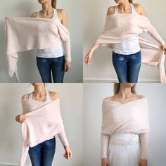 Lothlorien - Wedding bolero, sweater, Bridesmaid A Bolero Sweater, Wrap Sweater, Rose Sweater, Bridal Bolero, Wedding Bolero, Pullover Outfit, Bridesmaid Accessories, Powder Pink, Pulls