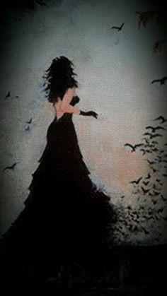 Lady Raven  Oilpaintingoncanvas  Painter.Selim Güventürk