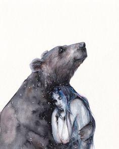 Who needs a bear hug?!! Gorgeous colours and concept by @oksanadimitrenko by beautifulbizarremagazine