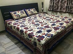 Handcrafted Rajasthani Print 100% Cotton Double Bed Sheet... http://www.amazon.in/dp/B01N6J5GRD/ref=cm_sw_r_pi_dp_x_DXLxyb1Z4P0R3