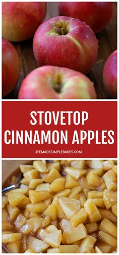 Looking for a quick & easy side dish? Look no further! These stovetop cinnamon apples are a breeze to make and are ready to go in just 30 minutes! They can be served with just about anything! Cinnamon Apples, Cinnamon Oatmeal, Cinnamon Bread, Cinnamon Rolls, Pancakes Cinnamon, Cinnamon Cupcakes, Cinnamon Desserts, Cinnamon Twists, Cinnamon Crunch