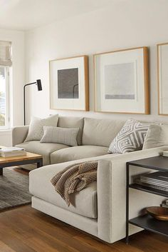 Modern sectional room designs with sectional Room & Board - Clemens Sectionals - Modern Sectionals - Modern Living Room Furniture Boho Living Room, Home And Living, Room And Board Living Room, Modern Small Living Room, Tiny Living, Ikea Living Room, Modern Room, Living Room Decor Simple, Dining Room