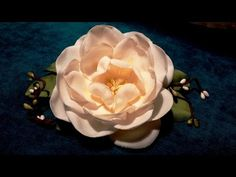 Fabric flowers how to make:camellia/tutorial/Цветы из ткани: камелия - YouTube