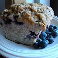 Blueberry Zucchini Bread - I made this for our neighbor and it was an absolute hit -even though I used Tbs instead of tsp for the vanilla (sleepy eyes)